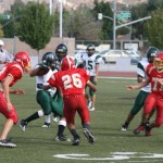 Hemet High JV football faces off with Perris