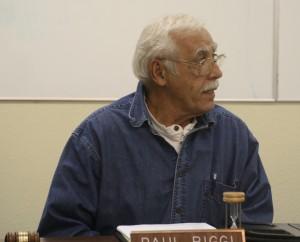 Paul Riggi, IFPD commissioner, running his last meeting.