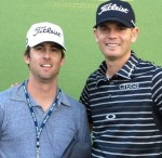 Brendan Steele, right, and his caddy Nick Wilkins after the 2012 Humana Challenge.