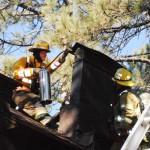 Idyllwild fire extinguishes chimney fire