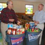 Hungry families win in Super Bowl food drive