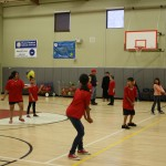 The first ever Town Hall youth co-ed volleyball game was played Friday night, April 13. Playing volleyball, other than for Idyllwild School, is a new opportunity for the kids on the Hill.