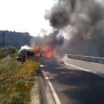 VIDEO: Solo crash on Hwy. 74 near Cranston Station