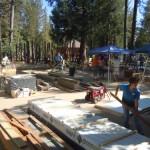 PHOTOS: Day 1 of playground build
