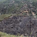 10-acre fire burns along Hwy. 74