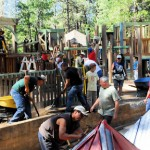 Hundreds work to complete Idyllwild playground