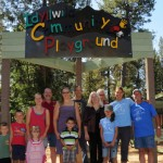 Playground sign dedicated
