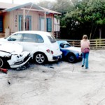 Driver loses control, hits 3 parked cars in Pine Cove