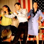 "PHOTOS: ""Political Suicide"" timely, witty"