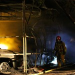 Structure fire in Anza destroys garage, two cars and trailer