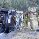 Vehicle overturns on Hwy. 243