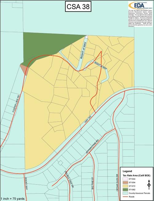 CSA 38 TRA map