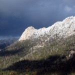Storm brings snow to high country