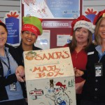 Santa's mail box at post office, ready for letters