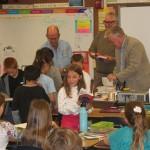Rotarians visit school bearing dictionaries