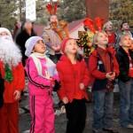 Santa visits Kids Tree Lighting
