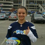 Breanna Lewis competes in NFL Punt, Pass and Kick