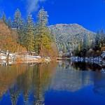 Lake Fulmor freezes