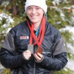 Salter captures third in thrilling skeleton race