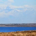 Mountain snow storm from the Salton Sea