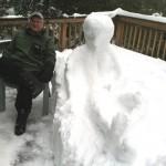 A snow friend