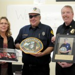 Ward Johnson presents thank you to IFPD