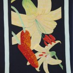 This Lemon Lily quilt, made by Anna-marie Padula, will be raffled at the 2013 Lemon Lily Festival in July.  Photo  by J.P.  Crumrine