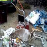 Hazard waste dumped illegally near the 'dump'