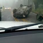Driver OK after Mountain Center rollover crash