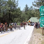 The Amgen Tour of California races through Monday. The second leg of the race was from Murrieta to the Palm Springs Tramway and passed through Mountain Center and Garner Valley. Sixteen teams of bikers zoomed through Mountain Center starting about 1:20 p.m. Photo by Jenny Kirchner