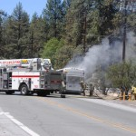 Tour bus fire closes Highway 243