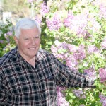Gary Parton and his lilacs.       Photo by Marshall Smith