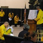 PHOTOS: Tuesday morning fire briefing and burn area