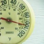 Temperature breaks the 100s