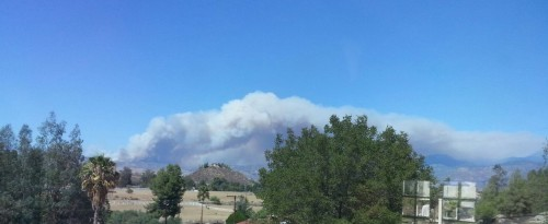 The Silver Fire seen from Hemet.