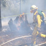 Strong Fire out, but was burning in Idyllwild