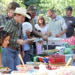 Town Hall families enjoy potluck