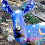 Deer sculptures become artists' canvasses