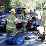 One injured in motorcycle-truck collision