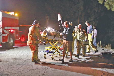 According to witnesses and parties involved, on Sunday, Oct. 27, a little after 6 p.m., Noah Reed, 20, of Banning, was riding his motorcycle north on Highway 243 traveling around 50 to 60 mph. Reed lost control of his bike, swiping the side of a Honda Pilot near mile marker 15. Responders closed Highway 243 in both directions. Mercy Air landed at Vista Point and airlifted Reed to Riverside Regional Medical Center with moderate to major injuries. The parties in the Honda Pilot were uninjured. Photo by Jenny Kirchner