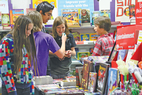 Idyllwild School opened its annual book fair Monday morning in the multi-purpose room. The fair is open through Thursday for students to come and purchase books, as well as other goodies that will be available. Photo by Jenny Kirchner