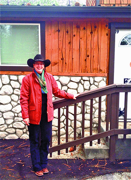 Sharp-eyed Sandy Brunet correctly identified last week's photo spot as being a portion of the left-side front wall of Martha and Emily Pearson's Mountain Center Café at the junction of highways 74 and 243 in Mountain Center. She wins the tickets to the Rustic Theatre. Congratulations, Sandy. Photo by Jack Clark