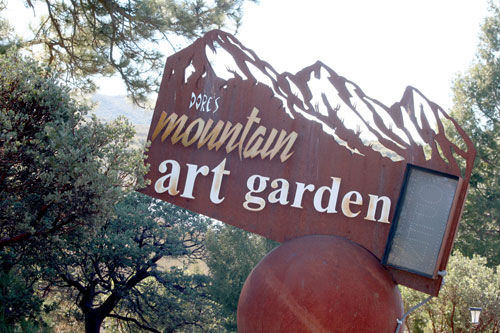 Metal artist Dore Capitani created the Mountain Art Garden located at 28815 Highway 243. It features a display of Capitani's metal art. Visitors are invited to browse the 8-acre garden and galleries located on the property.           Photo by Jay Pentrack
