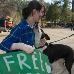 Idyllwild Arts student gives free hugs