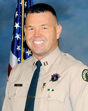 Capt. Ray Wood, new head of the Riverside County Sheriff's Hemet Station. Photo courtesy Capt. Ray Wood