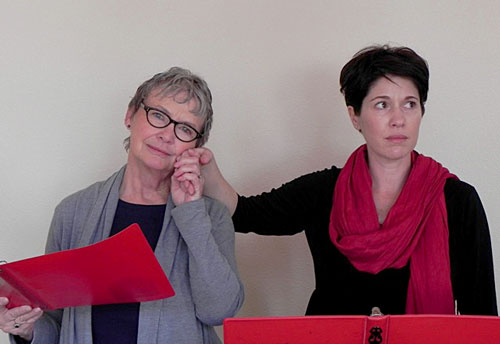"""Michele Marsh (left) and Meg Wolf will appear in """"Eleemosynary"""" Friday evening. Photo courtesy of Suzanne Avalon"""
