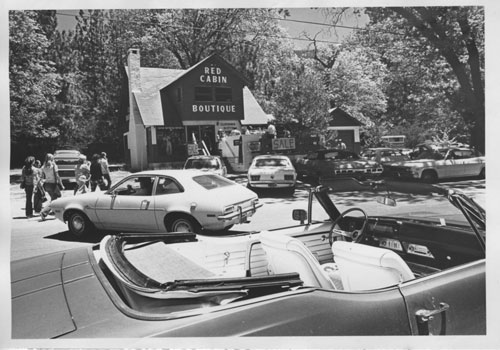 The Red Cabin Boutique in the 1970s, later to become several restaurants, including Hidden Village Chinese restaurant that closed its doors Sunday. File photo
