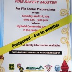Fire Safety Muster postponed