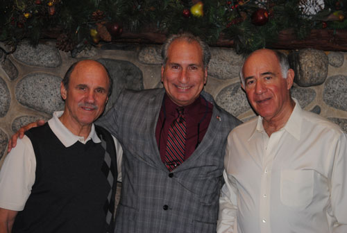 Peter Capparelli (left) and Dr. Richard Goldberg (right) hosted a fundraiser for State Senate District 28 candidate Jeff Stone (center) currently Riverside County 3rd District Supervisor.       Photo by J.P. Crumrine