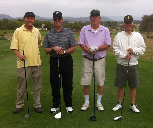Third-place team members (from left) are John McAndrews, Barry Wallace, David Hiemenz and Bill Ragland. Photo by Jim Crandall